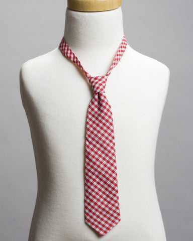 Red Gingham Neck Tie