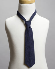 Navy Houndstooth Neck Tie- *As Seen in Earnshaw's July 2013 Issue*