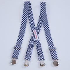 Navy Gingham Suspenders