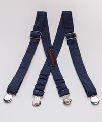 Navy Houndstooth Suspenders