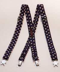 Navy with Stars Suspenders