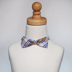 Orange&Blue Plaid Bow Tie