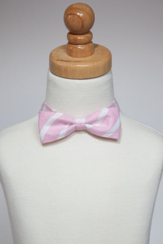 Pink with Stripe Bow Tie *LIMITED EDITION*