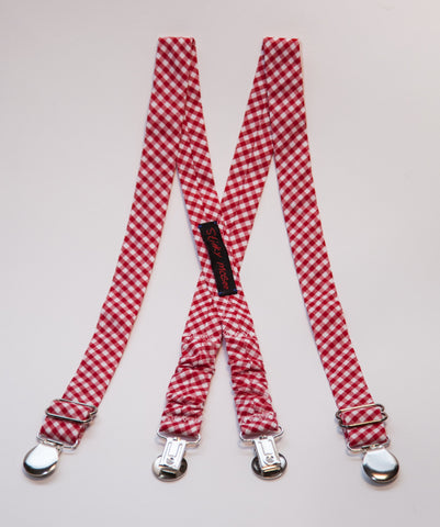 Red Gingham Suspenders