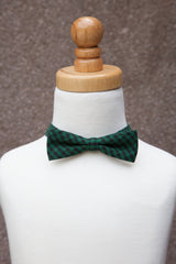 Green Checker Bow Tie