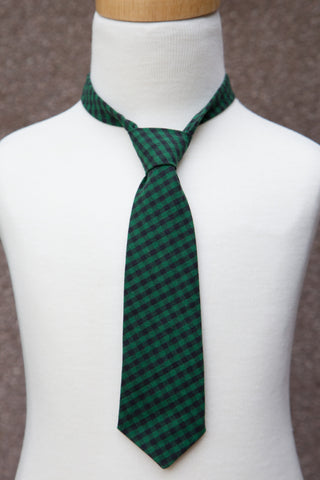 Green Checker Neck Tie