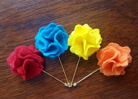 Felt Flower Lapel Pins