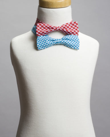 Gingham Bow Tie Set