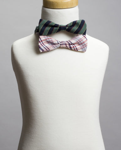 Stripes Bow Tie Set