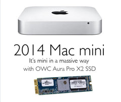 OWC Aura Pro X2 SSD for Mac mini 2014 upgrade kit