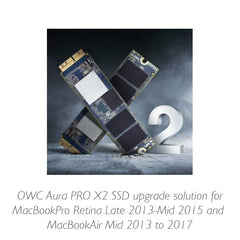 OWC Aura Pro X2 SSD for MBPro 2013 to 2015 retina & MBAir 2013 to 2017