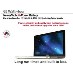 "MacBookPro 13"" Unibody 2009 to 2012 NuPower"
