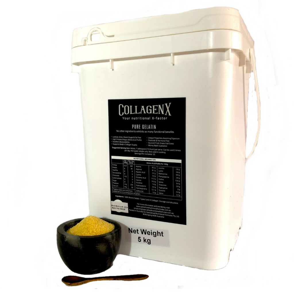 5 kg bulk tub of collagenx pure gelatin