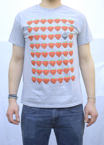 Strawberry Grey T-Shirt
