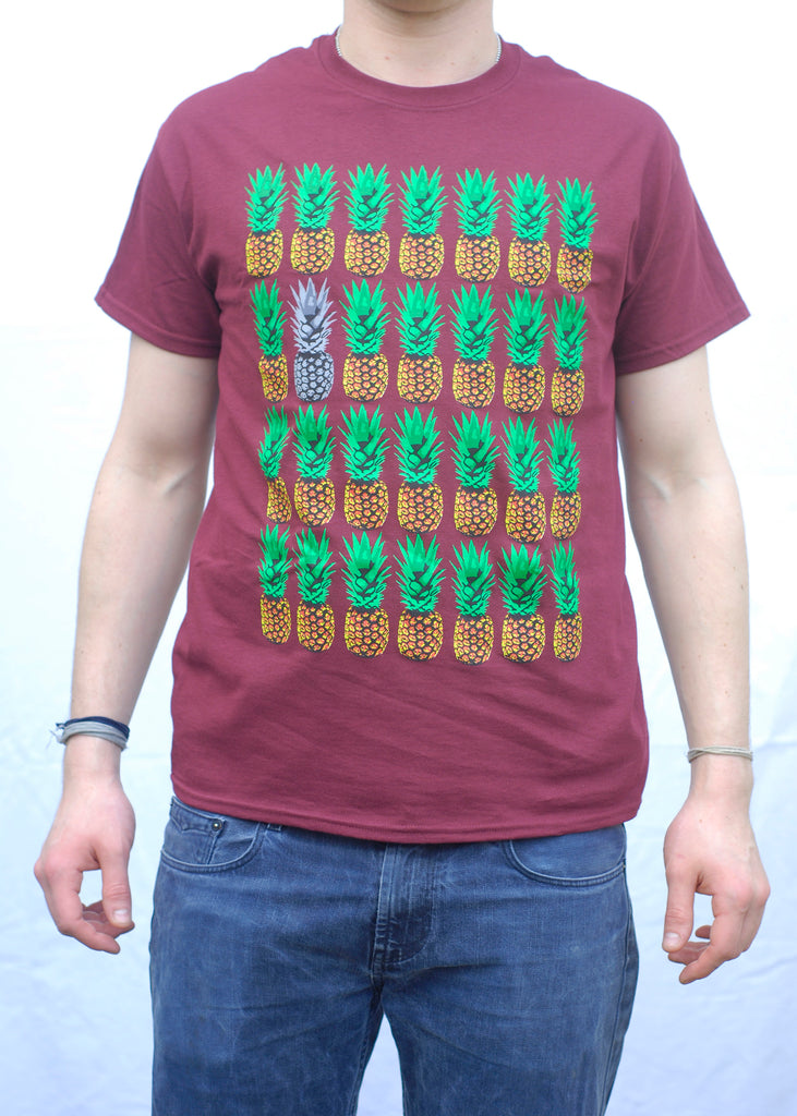 Pineapples Maroon T-Shirt