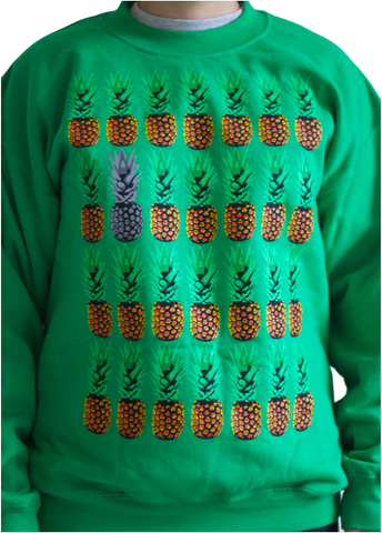 Pineapples on Green