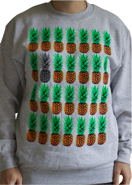 Pineapples on Grey