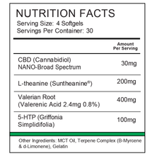 Load image into Gallery viewer, Nutrition label for Synergy BioNaturals stress relief formula β-Calmed.