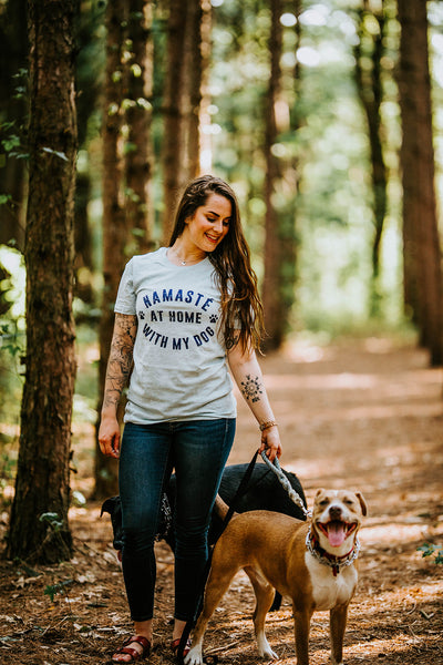 Namaste at Home With My Dog Shirt