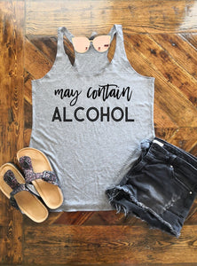 May Contain Alcohol Triblend Racerback Tank