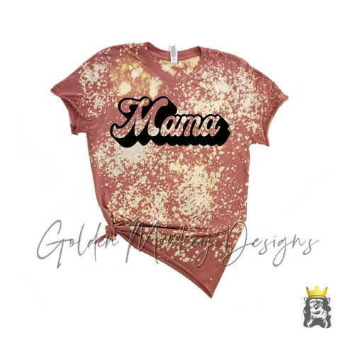 Mama on Bleached/Distressed Shirt