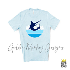 Blue Marlin Shirt Fishing Enthusiast