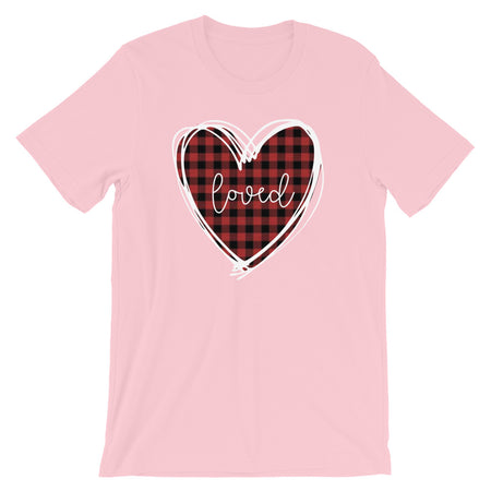 Loved Buffalo Plaid Valentine's Day Shirt