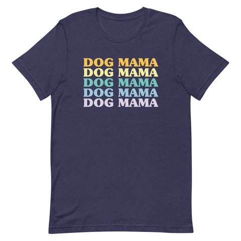 Dog Mama Repeating Text Shirt