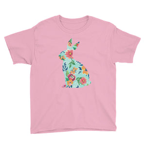 Youth Floral Easter Bunny Shirt