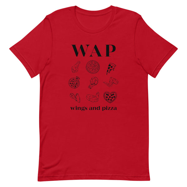 WAP Wings and Pizza Funny Shirt