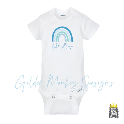 Oh Boy Gender Reveal Baby Announcement Bodysuit