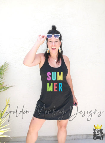 Summer Bright Colors Coverup