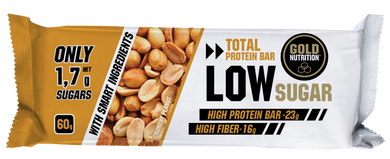 Barra Proteína Gold Nutrition Low Sugar Crunchy Peanut