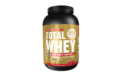 Proteína Total Whey Gold Nutrition Morango 1KG