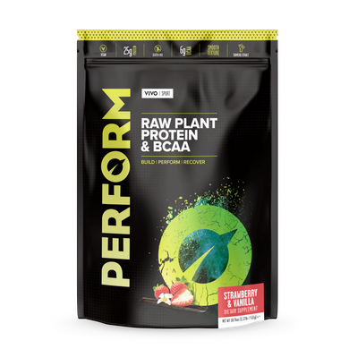 Proteína Vegetal Vivo Life Perform Morango & Baunilha Raw 532g