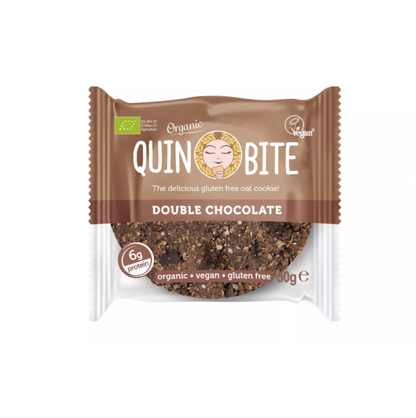 Cookie Quin Bite Duplo Chocolate Bio Sem Gluten Vegan