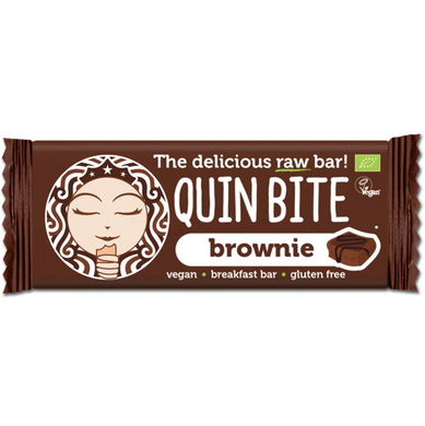Barra Raw Quin Bite Brownie Bio