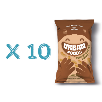 Peanut Butter Puffs Urban Foods X 10