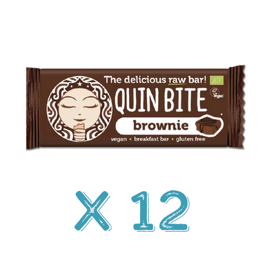 Barra Raw Quin Bite Brownie Bio X12