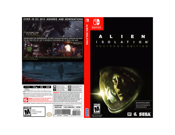 Alien: Isolation - Custom Nintendo Switch Art Cover