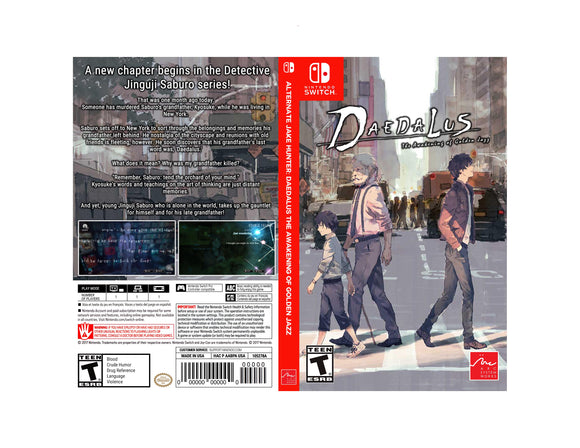 Alternate Jake Hunter: DAEDALUS The Awakening of Golden Jazz - Custom Nintendo Switch Art Cover