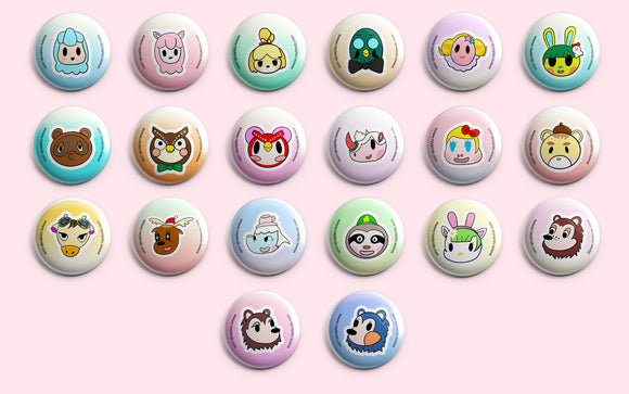 Animal Crossing 1.25 inch Pin Back Buttons