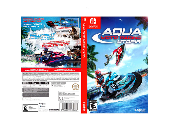 Aqua Moto Racing Utopia - Custom Nintendo Switch Art Cover