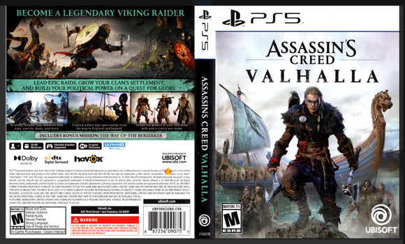 Assassin's Creed: Valhalla - Custom PS5 Art Cover