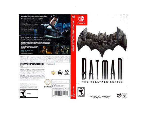 Batman: The Telltale Series - Custom Nintendo Switch Art Cover