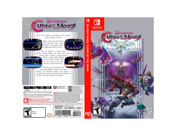 Bloodstained Curse of the Moon LR Edition - Custom Nintendo Switch Art Cover