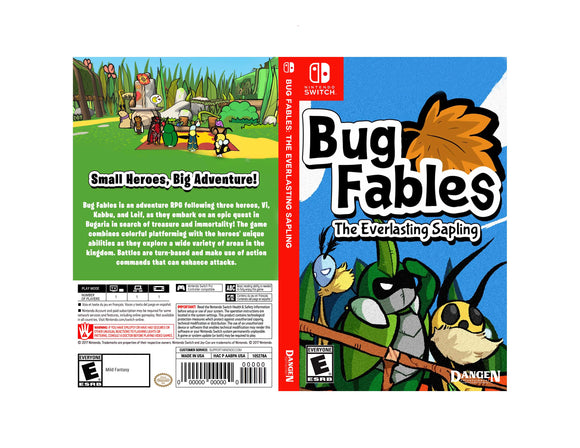 Bug Fables: The Everlasting Sapling -  Custom Nintendo Switch Art Cover