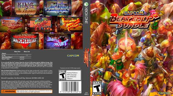 Capcom Beat em Up Bundle - Custom Xbox One Art Cover w/ Game Case