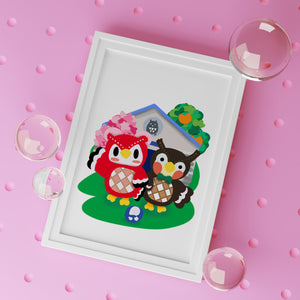 Celeste and Blathers' Museum Animal Crossing Art Print