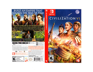 Sid Meier's Civilization VI - Custom Nintendo Switch Art Cover